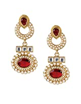 Ethnic Indian Bollywood Jewelry Set Traditional Fashion Pearl EarringsISREA033MA