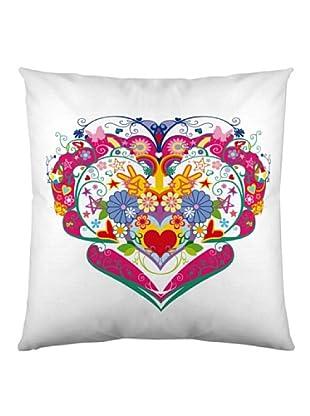 Kashi Kisu Funda Cojín Heart (Multicolor)