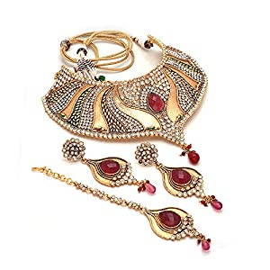 Kundan Bridal Necklace Set original ad Gold Plated puwai handmade branded new design Fashion Real Look Diamond Jewelry With Tika