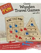 Classic Wooden Travel Games Set Of 2