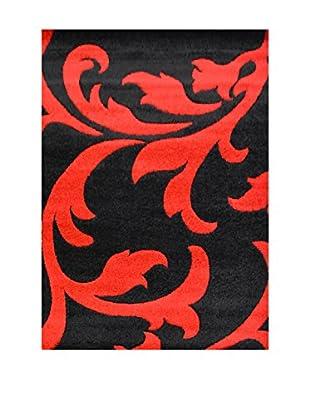 Chic Orange Teppich Havanna schwarz/rot 120x170 cm