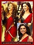 Deepika padukone saree - Bollywood Replica Deepika Padukone Badtameez dil Designer chiffon Red saree