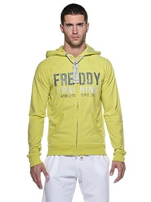 Freddy Sudadera Research Cappuccio Zip (Amarillo Ácido)