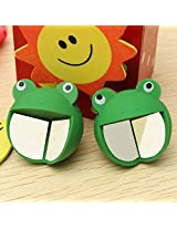 2Pcs Baby Kid Desk Corner Edge Protection Cover Cute Silicone Safety Protector (Frog)