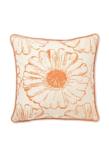 Elsa Blue Citrus Sunflower with Cord Indoor/Outdoor Pillow, 20