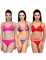 Urbaano Multi NOIVA Bridal Set- URM0900T - Pink , Orange , Red (34)