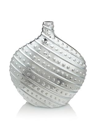 Pacific Décor Dot/Stripe Vase (Deep Silver)