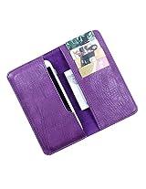 DooDa PU Leather Case Cover For Spice Coolpad (MI-515) (Purple)