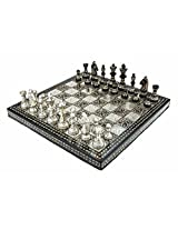 Chess Board/Set - Brass Carving in Box Chess Board - CNC-BR-1 - By CHESSNCRAFTS