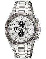Casio Edifice Tachymeter Chronograph White Dial Men's Watch - EF-539D-7AVDF (ED370)