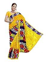 Ethnic Trend Saree (1440-D_Orange)