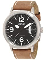 August Steiner Men's ASA812WT Stainless Steel Watch with Brown Leather Band