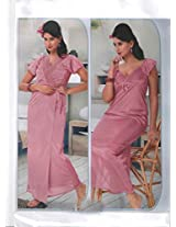 Indiatrendzs Women's Sexy Honeymoon Evening wear Pink 2pc Nighty