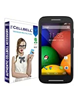 Cellbell Premium Tempered Glass Screen Protector for Motorola Moto E (2.5D Curved Edges)(Clear)(Comes with Warranty)Complimentary Prep cloth