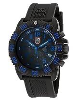 Men'S Chronograph Sea Black Dial Black Silicone (3083)