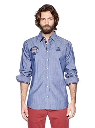 NZA New Zealand Auckland Camisa Manga Larga Micenas (Azul Denim)