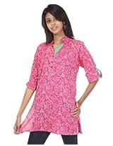Rajrang Womens Cotton Tunic -Pink -Small