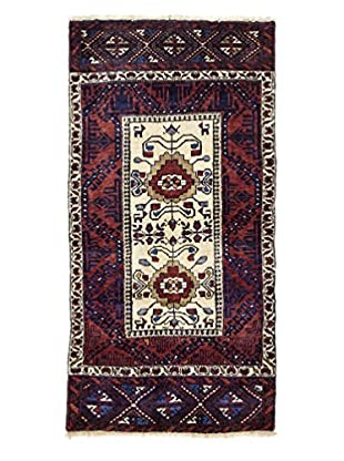 Darya Rugs Persian One-of-a-Kind Rug, Red, 2' 5