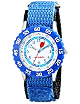 Red Balloon Kids W000181 Time Teacher Stainless Steel Watch With Blue Nylon Band
