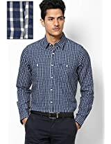 Blue Full Sleeves Casual Shirts Allen Solly