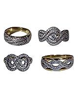 Dadu Diamonds Beautiful Design AD Finger Ring Comb