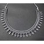 Silver Metal Oxidised German Silver antique Traditional Necklace For women's/girls