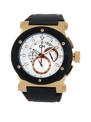 Carlo Monti Herren Armbanduhr rotgold/silber/Leder CM701 312 IP