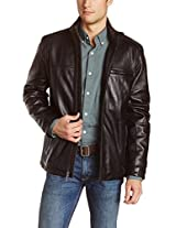 Iftekhar Men's Pure leather Jacket - Black - (Iftekhar10 - XXL)