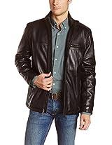 Iftekhar Men's Pure leather Jacket - Black - (Iftekhar10 - XL)
