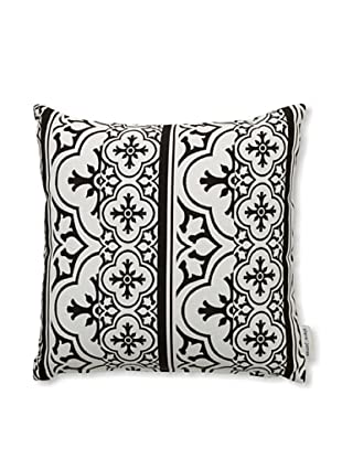 Steve & James Outdoor Patterned Throw Pillow (Black)