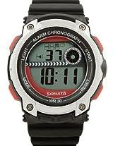 Sonata Digital Black Dial Men's Watch - 77005PP03J