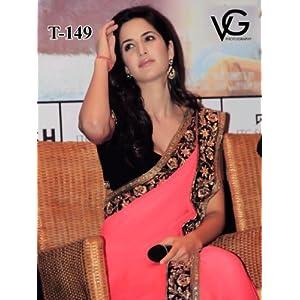 Lime Katrina Kaif Saree - Pink
