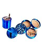 True CNC Highgrade Aluminium Herb Grinder(5 Part, 63mm, Blue )