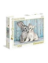 Clementoni Cat & Bunny 500 Piece Jigsaw Puzzle