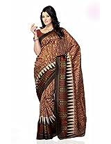 Shariyar Grey and Red Jacquard Printed Saree PRG380