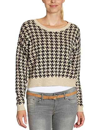 ONLY Pullover, kariert (Mehrfarbig (OYSTER GREY))