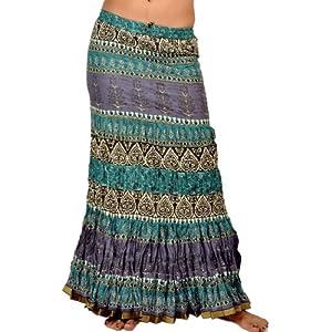 Little India Blue Purple Fish-cut Skirt