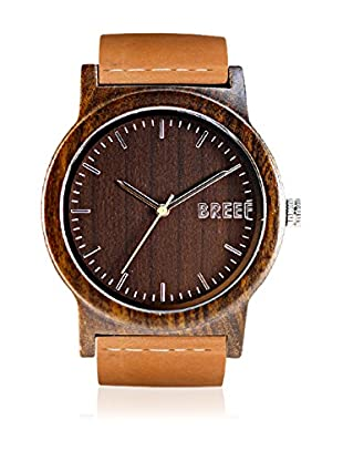 Breef Watches Reloj con movimiento japonés Unisex Ebano Marrón 44 mm