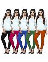 Lux Lyra Indian Churidar Leggings, Pack of 5