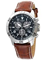 Citizen Men's Eco-Drive Perpetual Calendar Chronograph Watch (Black/Brown)