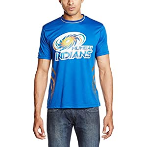 Mumbai Indians Round Neck  Men's T-Shirt (Blue)