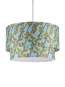 Inhabit Floral Hudson Double Pendant Lamp (Pyrus/Cornflower)