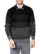 People Men's Synthetic Sweater