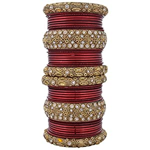 Syonaa Bangles Chura Set of Two in 2.4 Inches Size