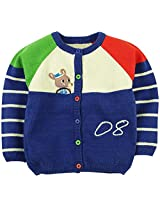 Infant Girls Full Sleeve Sweater With Embroidery - Multi Colour (2 - 3 Years)