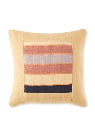 La Boheme Cotton Stripe Cushion, Yellow/Multi, 16