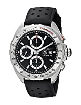 TAG Heuer Mens CAZ2010.FT8024 Analog Display Automatic Self Wind Black Watch
