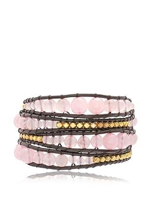 Lucie & Jade Armband  braun/goldfarben/rosé