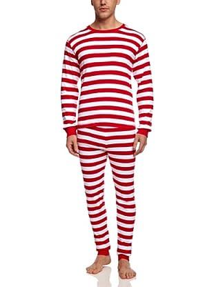 Hatley  Pijama Metone (Rojo / Blanco)