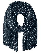 Saro Lifestyle Women's Polka Dot Design Shawl, Indigo, One Size